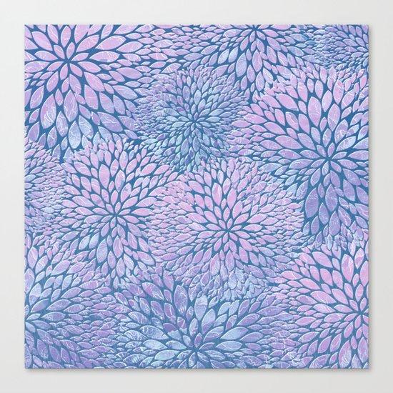 Frozen Petals Canvas Print