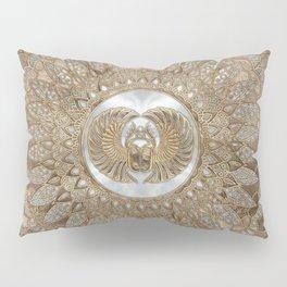Egyptian Scarab Beetle Pastel Golds Pillow Sham