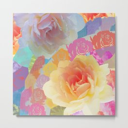 Artistic roses, patterns and textures Metal Print