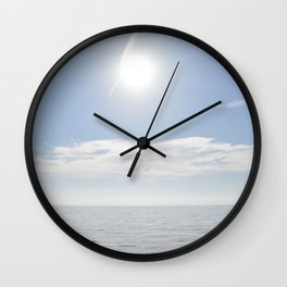 summer, could and sea in the Balearic Island Wall Clock