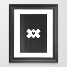 XoX Black Framed Art Print