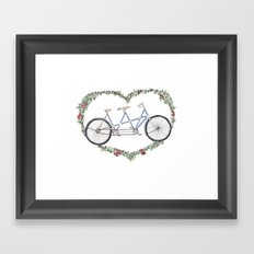A bicycle made for two Framed Art Print