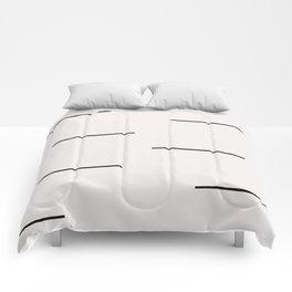 Mudcloth white black dashes Comforters