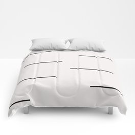 Mudcloth white black dashes Comforters