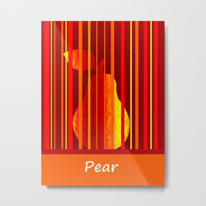 Dramatic Pear Metal Print