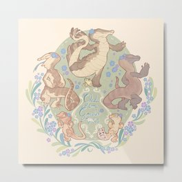 Happy little frogs Metal Print