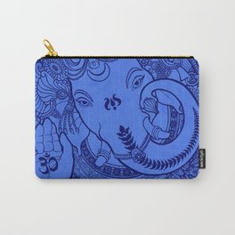 Ganesha Lineart Blue Carry-All Pouch