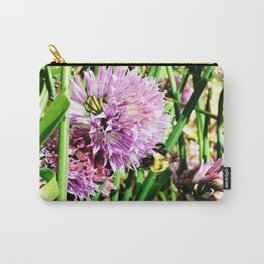 Scallion Flower Bumble Bee Carry-All Pouch