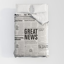The Good Times Vol. 1, No. 1 / Newspaper with only good news Comforters