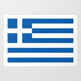 Flag of Greece Greek Art Print