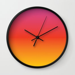 pink red orange yellow evening sky gradient Wall Clock
