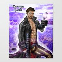 captain hook Canvas Prints featuring Captain Hook by Steven H. Garcia