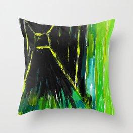 Dark Floors Green Palette By Fairychamber  Throw Pillow