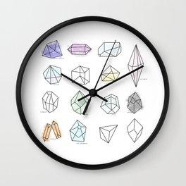 Healing Crystals Wall Clock