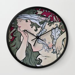 March April 1896 20th Salon des 100 Art Expo Paris France Wall Clock