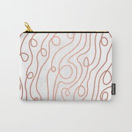 Meander copper abstract painting pattern flowing lines art and patterned decor Carry-All Pouch