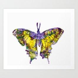 Purple Butterfy Art Print