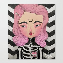 SKULLY ♡ KELLY Canvas Print