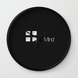 Close your eyes open your mind Wall Clock