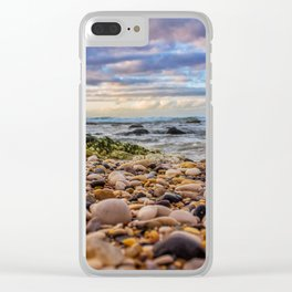 Low pebbles, smooth tide Clear iPhone Case