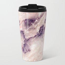 Pink marble texture effect Travel Mug