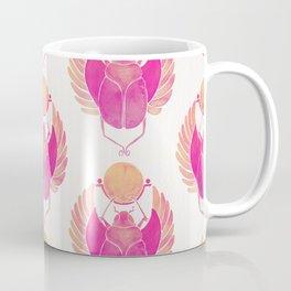 Egyptian Scarab – Pink Ombré Coffee Mug