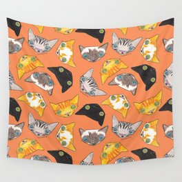 """""""Oro?"""" Cats-Salmon Color Wall Tapestry"""