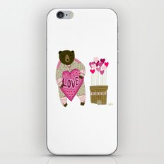 Bear with loveheart iPhone & iPod Skin