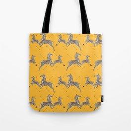 Royal Tenenbaums Zebra Wallpaper - Mustard Yellow Tote Bag