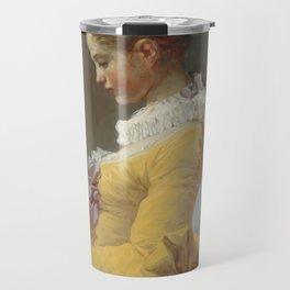 Jean Honoré Fragonard Young Girl Reading c. 1769 Painting Travel Mug