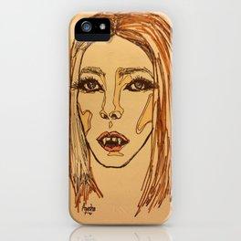 Vamp girl iPhone Case