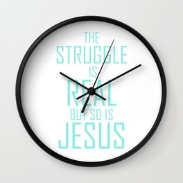Jesus is Real Christian Wall Clock