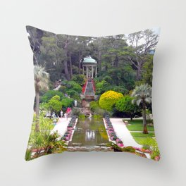PARADISE - FRENCH RIVIERA Throw Pillow