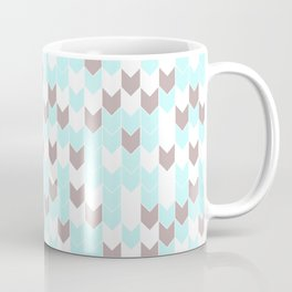 Modern aqua blush pink brown geometrical chevron Coffee Mug