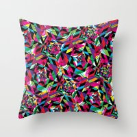 kaleidoscope Throw Pillows featuring KALEIDOSCOPE by Bianca Lopomo
