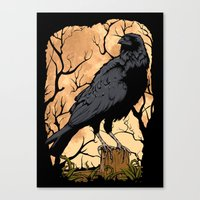 crow Canvas Prints featuring Crow by Murat Sünger