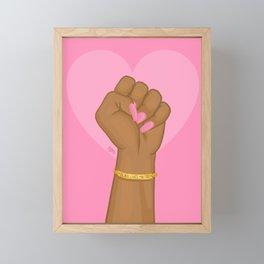 Black Lives Matter Power Fist Framed Mini Art Print