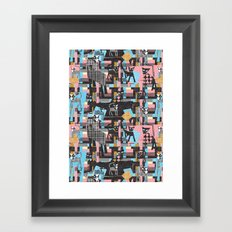 Picasso's cats Framed Art Print