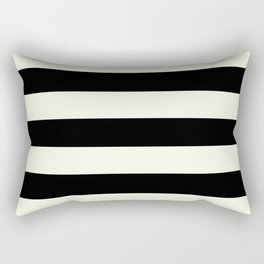 Preppy mid century modern minimalist Paris Chic Black And White Stripes Rectangular Pillow