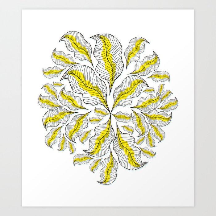 Line Art Prints : Yellow line art print by suyumbike society