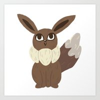 eevee Art Prints featuring Eevee by Jubear