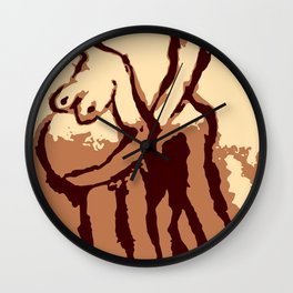 the pregnant couple Wall Clock