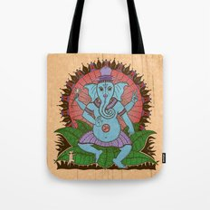 peace ganesh Tote Bag