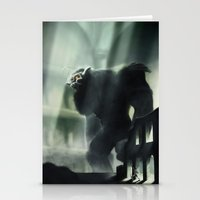shadow of the colossus Stationery Cards featuring Barba the Colossus by onez