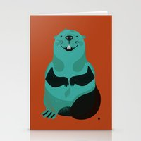 beaver Stationery Cards featuring Beaver by The Little Friends of Printmaking