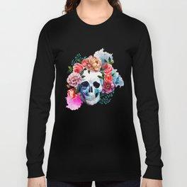 Flower Skull Long Sleeve T-shirt