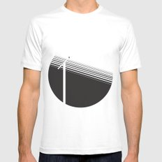 electricity White Mens Fitted Tee MEDIUM