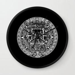 Aztec Coatlicue Symbol Native American Statue Wall Clock