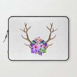 Floral Horn Laptop Sleeve