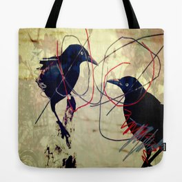 The gaze for the crow's crown Tote Bag